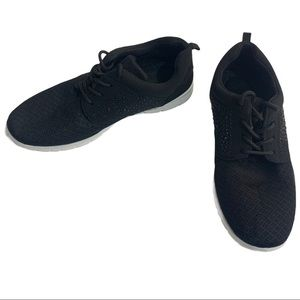 Podium black rhinestone athletic running sneakers